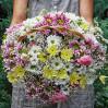 """Большая цветочная корзина с хризантемами """"Праздник"""""""
