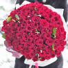 "Букет 101 красная роза ""Red Naomi"" высотой 60 см на заказ"