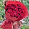 Букет 21 красная метровая роза