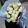 21 white rose, Ecuador buy with delivery