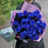 25 blue dutch tall roses buy with delivery