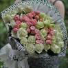 """Букет роз """"Бело-розовый тандем"""" с доставкой"""
