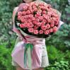51 нежно-розовая метровая роза на заказ с доставкой