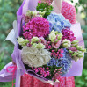 An airy bouquet with hydrangeas buy with delivery