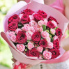 Bouquet of roses Duet-2 buy with delivery