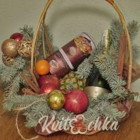 Новогодние подарочные корзины от Kvitochka