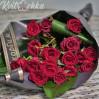 Траурный букет с красными розами № 8