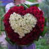 101 голландская роза в виде сердца купить с доставкой