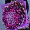 Огромный букет - 101 тюльпан в розово-сиреневой гамме на заказ