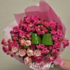 Букет 21 роза спрей высотой 50 см на заказ