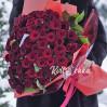Букет 51 темно-красная роза высотой 60 см на заказ