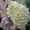 51 белая роза высотой 50 см на заказ