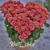 Сердце из роз в большой корзине на заказ