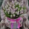 51 светлый (белый) тюльпан в коробке купить с доставкой