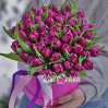 Bouquet of 51 lilac Tulip in a hatbox to order