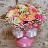 """Цветы в шляпной коробке: композиция """"С Шиком"""""""