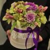 Букет в коробке Фиолетовый стиль купить с доставкой