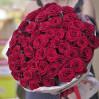 """51 роза красная """"Гран При"""", высота 70 см купить с доставкой"""