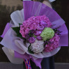 A Huge bouquet with peonies, hydrangeas and lilacs