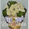 17 кремовых роз в коробке купить с доставкой