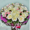 25 mixed bouquet of bright roses