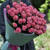 Bouquet of 39 pink roses with a height of 70 cm