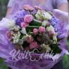 Букет с гортензиями и розами Фонтан