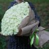 Букет белых роз 151 шт купить с доставкой