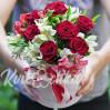 """Букет цветов в шляпной коробке """"Цветочное танго"""""""