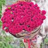 Букет из 101 красной розы высотой 80 см купить в Киеве