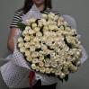 101 белоснежная роза 70 см купить с доставкой