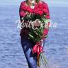 Букет красных высоких роз