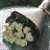 Букет белых роз 15 шт купить с доставкой
