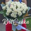 Букет белых роз 45 штук  высотой 60 см
