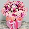 31 роза микс в шляпной коробке с доставкой по Киеву