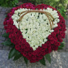 Large basket 301 rose heart buy with delivery