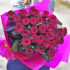 Букет 25 красных роз сорта Гран При