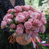 """Пионовидные розы в коробке """"Пудра"""""""