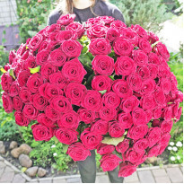 101 роза: когда дарить, как заказать доставку букетов в Киеве