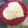 Букет 301 роза в виде сердца