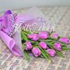 Букет 9 фиолетовых тюльпанов для корпоративных подарков