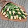 15 белых (кремовых) тюльпанов купить с доставкой