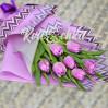 7 фиолетовых тюльпанов купить с доставкой