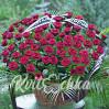 Большая ритуальная корзина из 60 роз Гран При