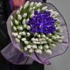 "Букет ""101 тюльпан + ирис"" на заказ"
