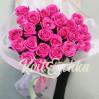 Букет 25 метровых голландских розовых роз