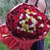 Bouquet of roses 101 Asorti buy cheap with delivery in Kiev