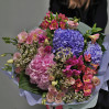 "Large bouquet with hydrangeas ""Air"" to buy with delivery in Kiev"