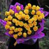 Букет 35 желтых высоких роз заказать в Киеве