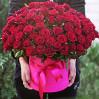 Букет из 101 красной розы в шляпной коробке